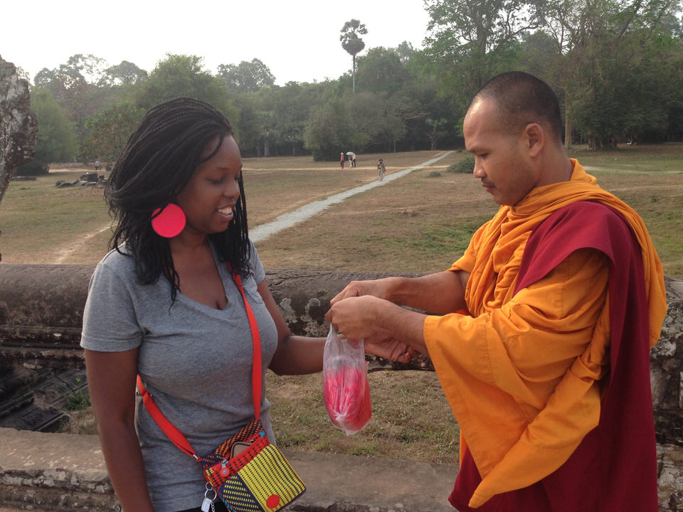 Psychic Zya Meets A Cambodian Monk